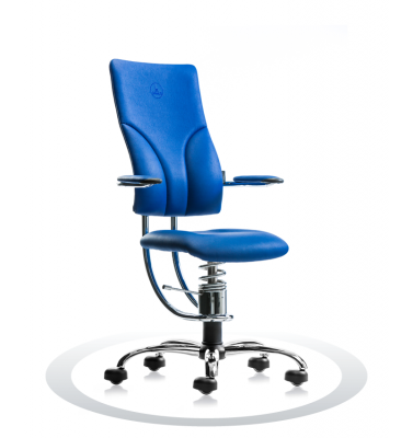 Ergonomische stoel Spinalis Apollo Chrome blauw