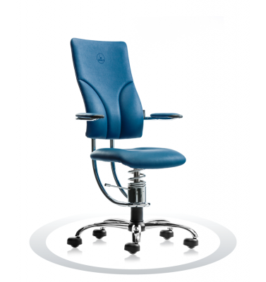 Ergonomische stoel Spinalis Apollo Chrome donker blauw
