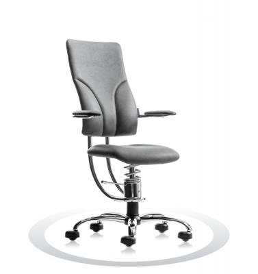 Ergonomische stoel Spinalis Apollo Chrome grijs
