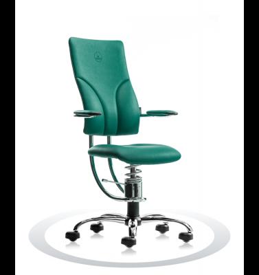 Ergonomische stoel Spinalis Apollo Chrome groen