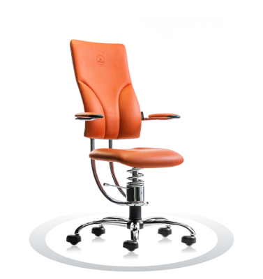 Ergonomische stoel Spinalis Apollo Chrome oranje