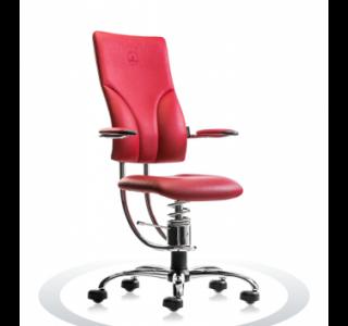 Ergonomische bureaustoel Spinalis Apollo Chrome rood