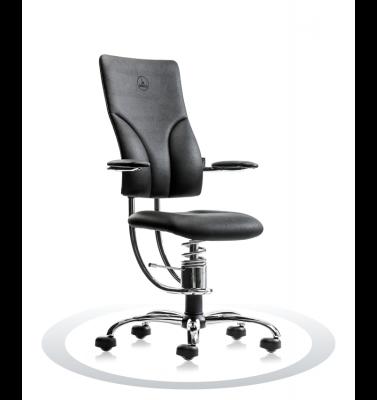 Ergonomische stoel Spinalis Apollo Chrome zwart