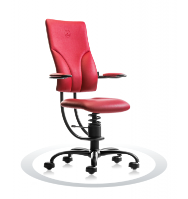 Ergonomische stoel Spinalis Apollo rood