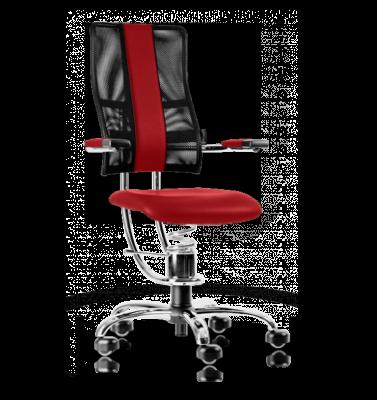 Ergonomische stoel Spinalis Hacker Crome bordeaux