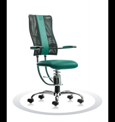 Ergonomische stoel Spinalis Hacker Crome groen