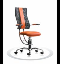 Ergonomische stoel Spinalis Hacker Crome oranje