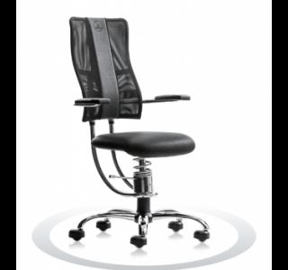 Ergonomische bureaustoel Spinalis Hacker Crome zwart