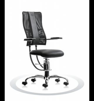 Ergonomisch dynamische bureaustoel Spinalis Hacker Crome zwart