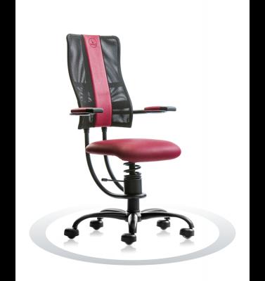 Ergonomische stoel Spinalis Hacker bordeaux