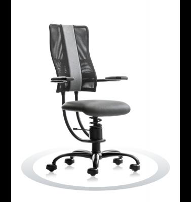 Ergonomische stoel Spinalis Hacker grijs