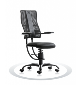 Ergonomische stoel Spinalis Hacker zwart twee weken op proef