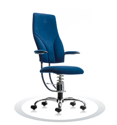 Ergonomische stoel Spinalis Navigator Chrome donker blauw
