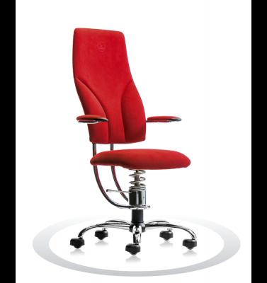 Ergonomische stoel Spinalis Navigator Chrome rood