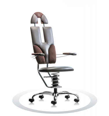 Ergonomische stoel Spinalis Pilot bruin