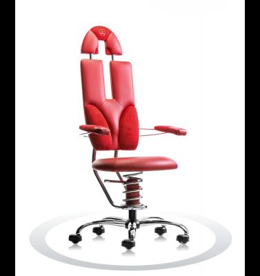 Ergonomische stoel Spinalis Pilot rood