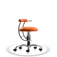 Ergonomische werkstoel Spinalis Smart Chrome oranje