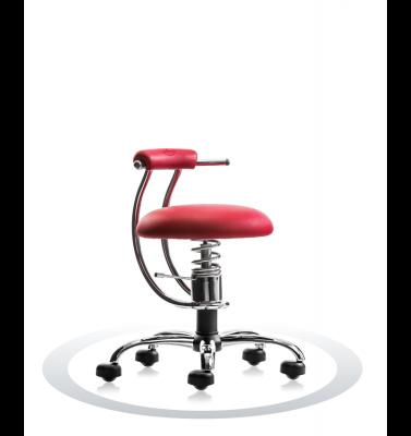 Ergonomische stoel Spinalis Smart Chrome rood