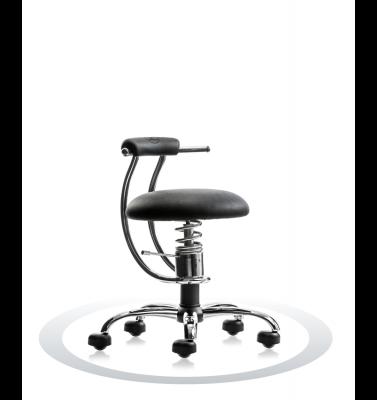 Ergonomische stoel Spinalis Smart Chrome zwart