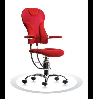 Ergonomische werkplek: Ergonomische stoel Spinalis Spider Chrome rood