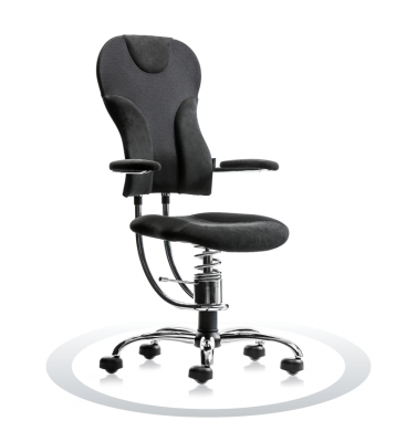 Ergonomische bureaustoel Spinalis Spider Chrome zwart