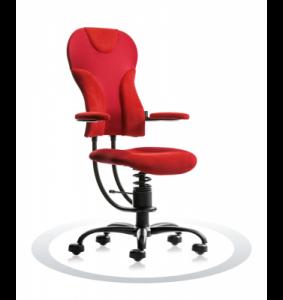 Ergonomische bureaustoel Spinalis Spider rood